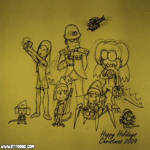 Quickie Sketch: Christmas 2009